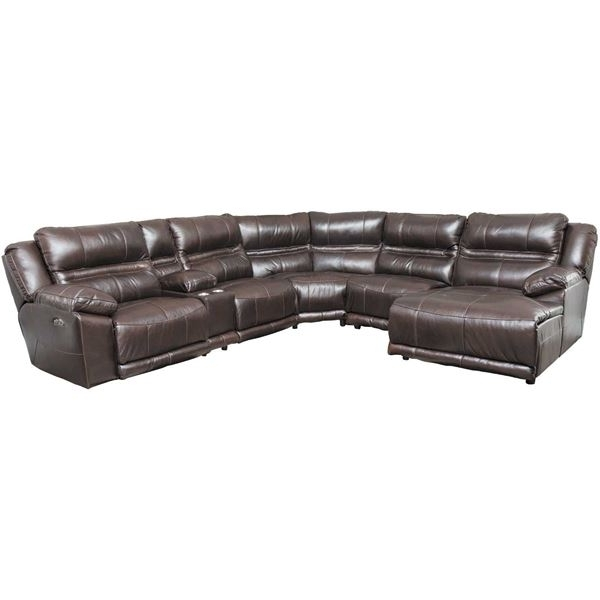Jackson 6 Piece Power Reclining Sectionals With Well Known Bergamo 6 Piece Power Reclining Sectional W/adjustable Headrest And (Gallery 4 of 15)