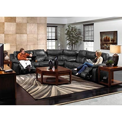 Jackson 6 Piece Power Reclining Sectionals Within Current Amazon: Catnapper Catalina Leather Reclining Sectional (Gallery 9 of 15)