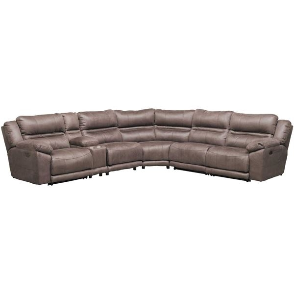 Jackson 6 Piece Power Reclining Sectionals Within Current Braxton 6 Piece Power Reclining Sectional With Adjustable Headrest (Gallery 2 of 15)
