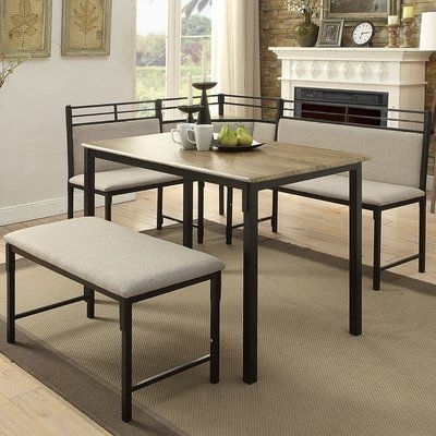 Jameson Grey 5 Piece Counter Sets Regarding Famous Red Barrel Studio Moonachie Corner 3 Piece Dining Set (Gallery 11 of 20)