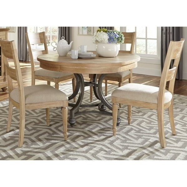 Jaxon 5 Piece Extension Counter Sets With Fabric Stools In Well Known Shop Harbor View Sand 5 Piece Round Table Set – On Sale – Free (View 10 of 20)