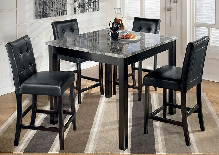 Jaxon 5 Piece Extension Round Dining Sets With Wood Chairs Throughout Most Recently Released Langlois Furniture – Muskegon, Mi Maysville Square Counter Height 5 (Gallery 14 of 20)