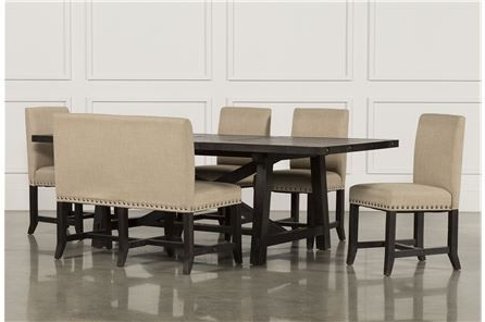 Jaxon 6 Piece Rectangle Dining Set W/bench & Wood Chairs (Gallery 7 of 20)