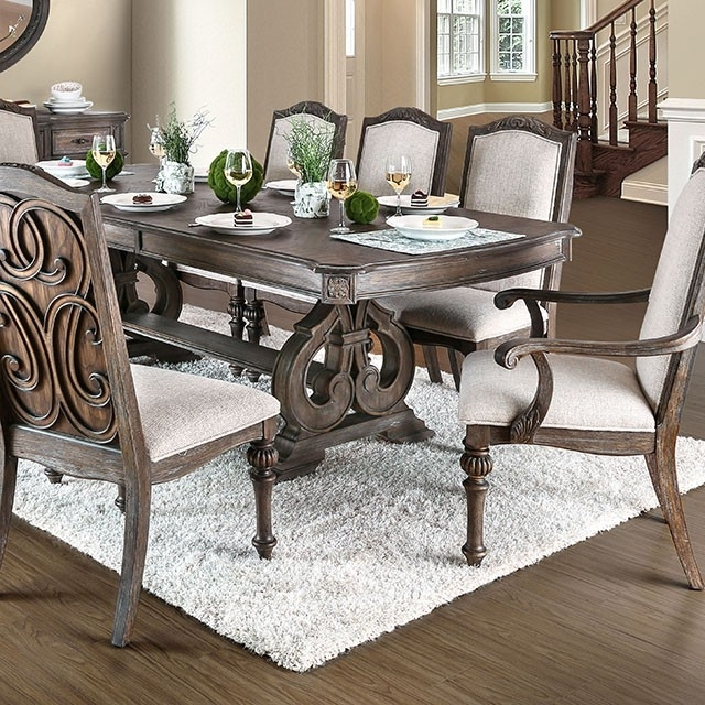 Jaxon 7 Piece Rectangle Dining Sets With Upholstered Chairs Pertaining To Recent Tables, Chairs, & Servers – Hello Furniture (View 11 of 20)