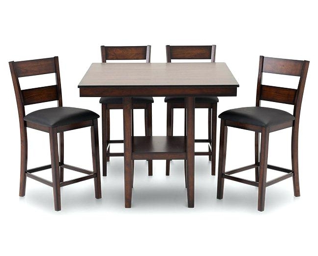 Jensen 5 Piece Counter Sets With Regard To Most Recently Released 5 Pc Counter Height Dining Set – Crystalfrost (View 15 of 20)