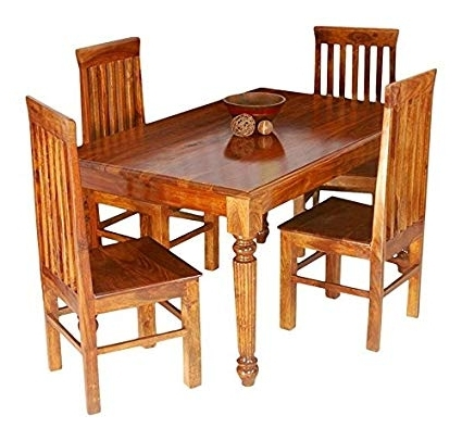 Jiya Creation Indian Ethnic Style 4 Seater Rectangular Dining Table For Popular Indian Style Dining Tables (View 15 of 20)