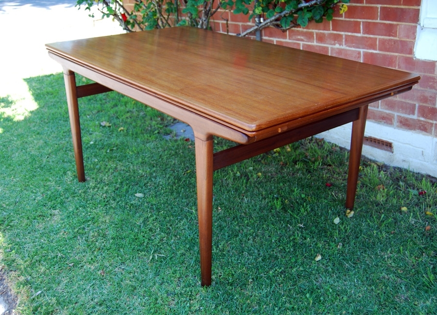 Johannes Andersen Teak Extending Dining Table To 2.6Metres 34D089 Regarding Most Recent Norwood Rectangle Extension Dining Tables (Gallery 14 of 20)