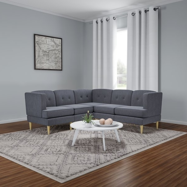 Josephine 2 Piece Sectionals With Raf Sofa With Regard To Most Up To Date Shop Carson Carrington Larvik Mid Century Modern 5 Piece Fabric (Gallery 11 of 15)