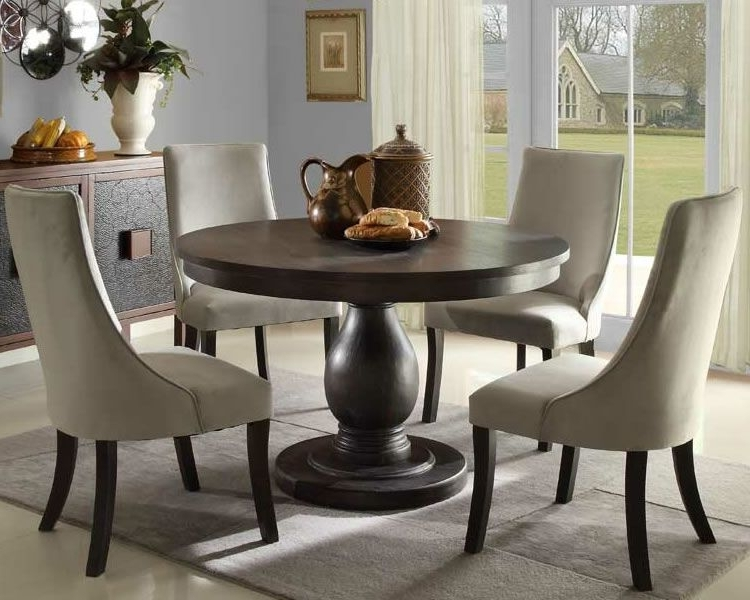 Karennarvasa Inside Preferred Jaxon 5 Piece Round Dining Sets With Upholstered Chairs (View 11 of 20)