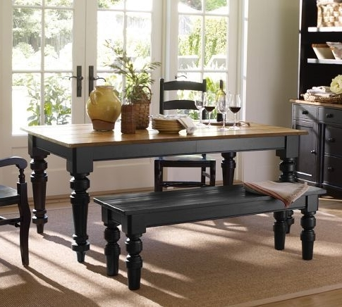 Keaton Extending Dining Table – Artisanal Black Stain (View 5 of 20)