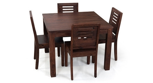 Kings Crafts Co Dark Brown 4 Seater Dining Table Set, Rs 16000 /set Within Preferred Dark Brown Wood Dining Tables (Gallery 15 of 20)
