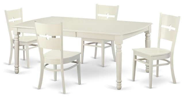 Kirsten 5 Piece Dining Sets Regarding Current Kirsten Rectangular Dining Table Set, White – Traditional – Dining (Gallery 2 of 20)