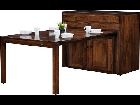 Kirsten 6 Piece Dining Sets In Recent Amish Century Buffet With Pullout Dining Table – Youtube (View 6 of 20)