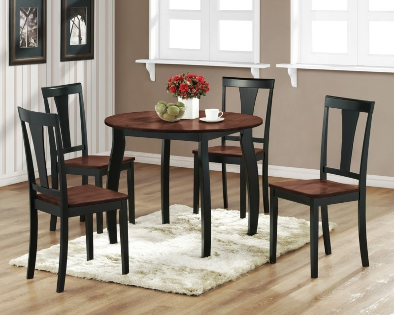 Kitchen Small Rectangular Kitchen Table Sets Kitchen Dining Intended For Favorite Small Round Dining Table With 4 Chairs (View 7 of 20)