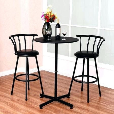 Kitchen Table Stools 3 Piece Kitchen Table Set 3 Piece Bar Table Set Within Most Recently Released Dining Tables With Attached Stools (View 11 of 20)