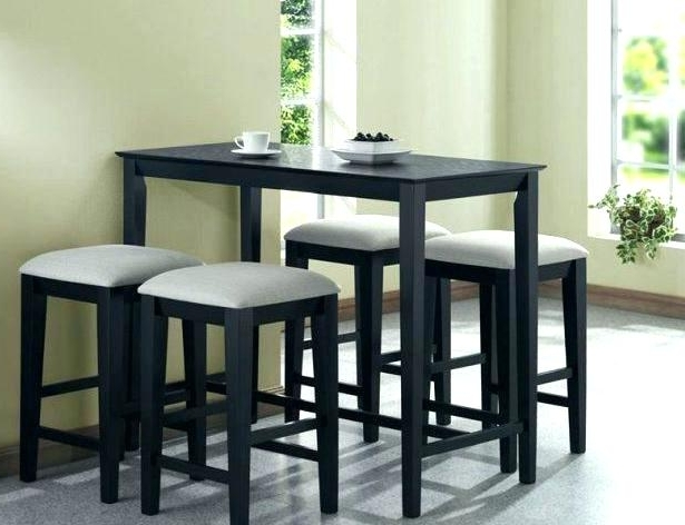 Kitchen Table With Stools Engaging Small Dining Table With Chairs Intended For Well Known Dining Tables With Attached Stools (View 12 of 20)