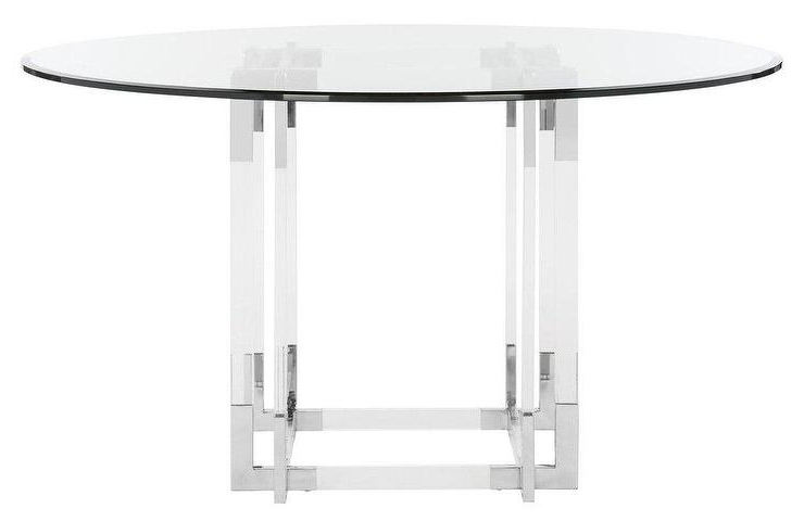 Koryn Round Acrylic Chrome Dining Table In Newest Round Acrylic Dining Tables (Gallery 2 of 20)