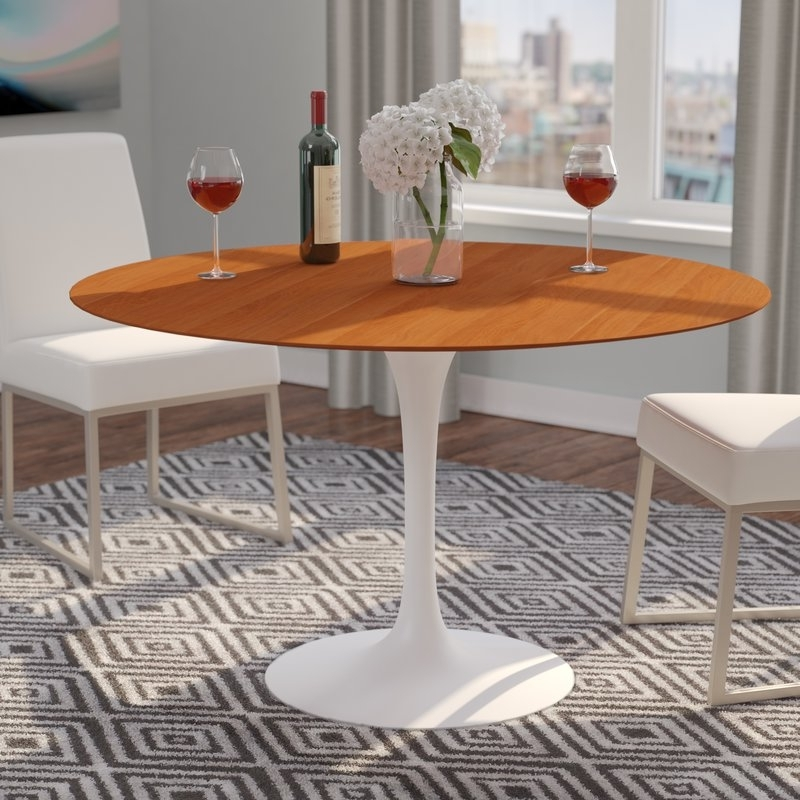 Langley Street Larkson Round Dining Table & Reviews (View 12 of 20)