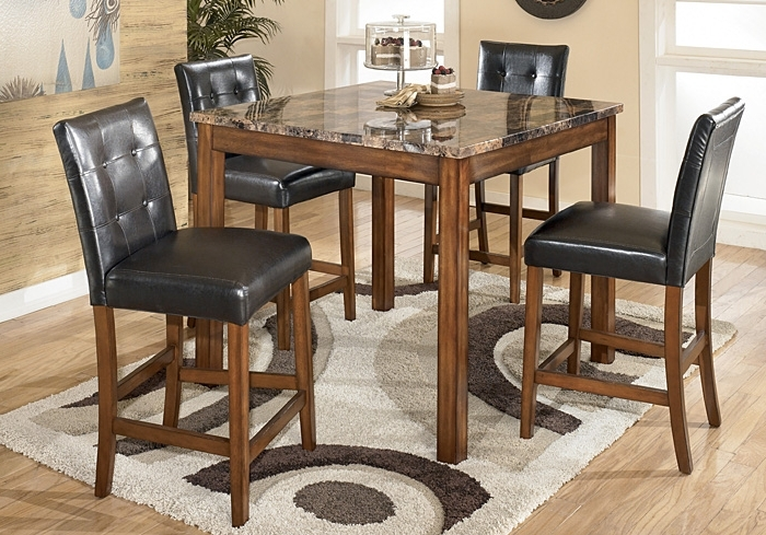 Langlois Furniture – Muskegon, Mi Theo 5 Piece Counter Height Dining Set Intended For 2018 Jaxon 5 Piece Extension Counter Sets With Fabric Stools (View 13 of 20)