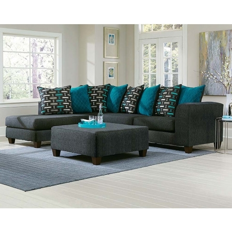 Large Black Two Toned 2 Piece Sectional Sofa (View 3 of 15)