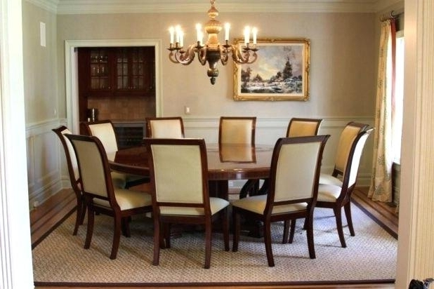 Large Circular Dining Tables For 2018 Glamorous Large Round Dining Room Tables With Leaves In Modern Home (View 8 of 20)