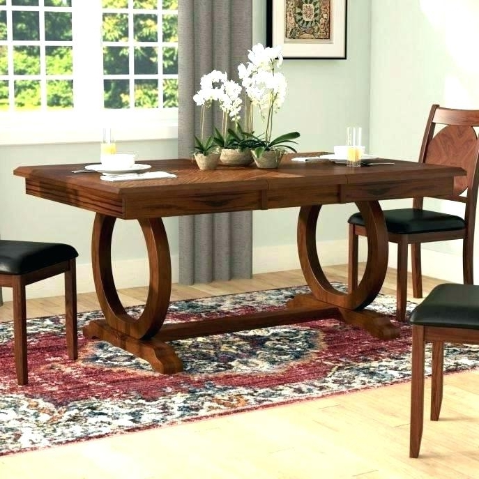 Large Circular Dining Tables Inside 2017 Long Wood Tables For Sale Long Wood Dining Tables Skinny Dining (View 10 of 20)