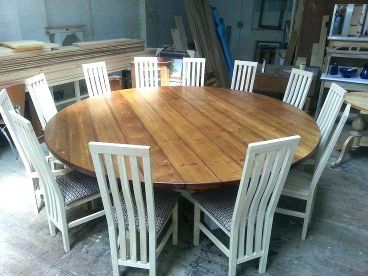 Large Circular Dining Tables Intended For Favorite Dining Tables Seats 8 – Beautymirror (View 16 of 20)