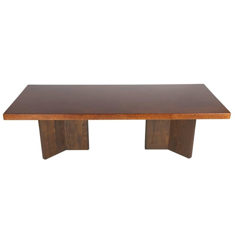 Large Cork Top Dining Tablepaul Frankl For Johnson Furniture Throughout Preferred Cork Dining Tables (View 9 of 20)