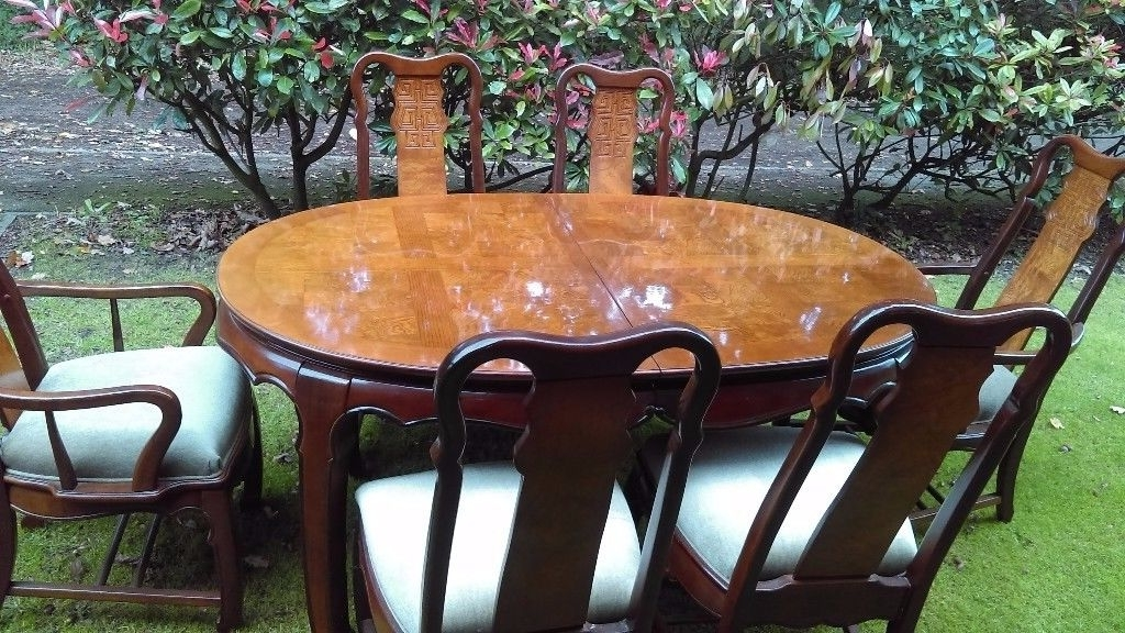 "Large Extending Dining Table And 6 Chairs ( Two Carvers) ""imperial With Regard To Favorite Imperial Dining Tables (View 20 of 20)"