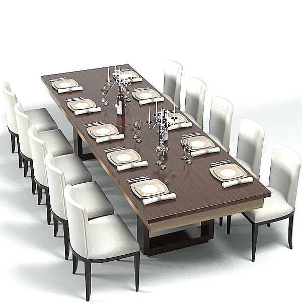 Large Modern Dining Room Tables Contemporary Dining Room Set 8 With Preferred Dining Tables Set For  (View 14 of 20)