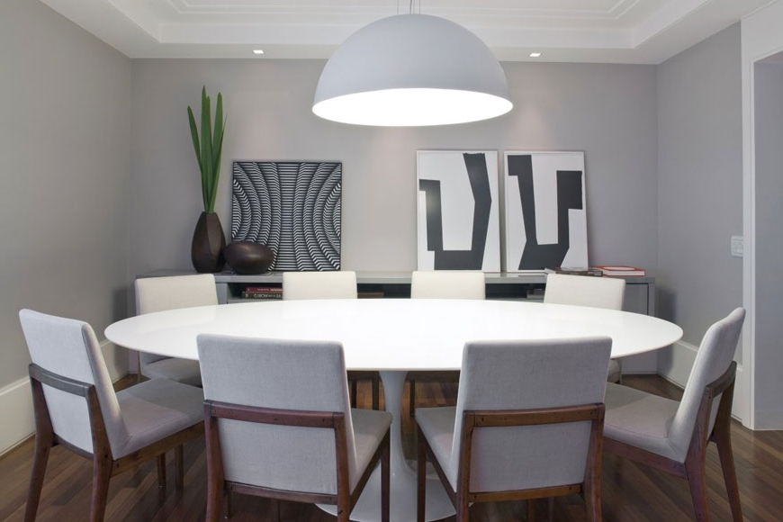 Large White Round Dining Tables In Widely Used Dining Tables (View 2 of 20)