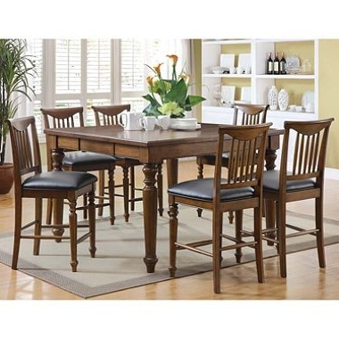 Latest $599 / Sam's Club – Burkhart Counter Height Dining Set – 7 Pc. Item Intended For Caden 5 Piece Round Dining Sets (Gallery 15 of 20)