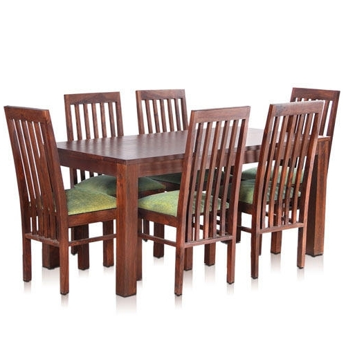 Latest 6 Chairs Dining Tables For Bombay Solid Wood Dining Table With 6 Chairs – Mynesthome Dot Com (View 15 of 20)