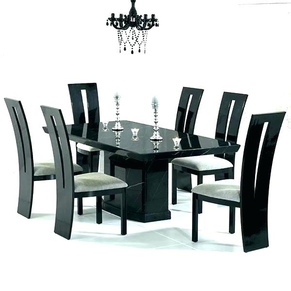Latest 6 Seat Dining Table 6 Glass Dining Table And Chairs Best Furniture Intended For 6 Chairs And Dining Tables (View 12 of 20)