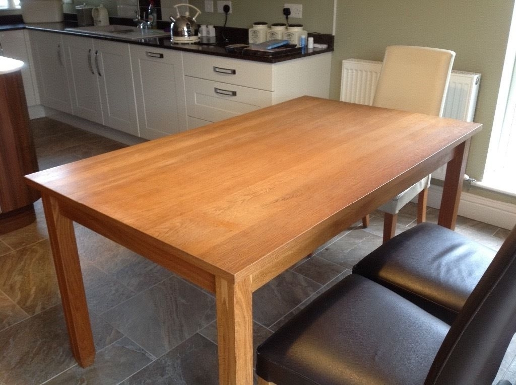 Latest A Next 6 Seater Dining Table Called The Hudson Solid Oak Sturdy Inside Oak 6 Seater Dining Tables (Gallery 18 of 20)