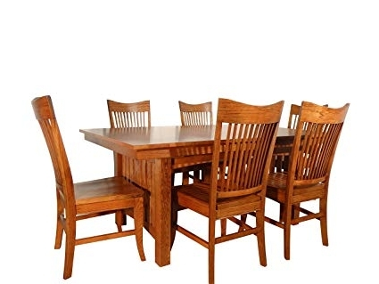 Latest Amazon – Lee's Heritage Furniture 391, 306 Grand Canyon Set 7 For Craftsman 7 Piece Rectangle Extension Dining Sets With Uph Side Chairs (View 14 of 20)