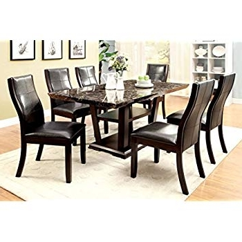 Latest Amos 6 Piece Extension Dining Sets Inside Amazon – Furniture Of America Dalcroze 7 Piece Modern Dining Set (View 20 of 20)