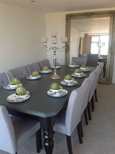 Latest Black 8 Seater Dining Tables In 8 10 Seater Large Dining Table, High Gloss Black + Painted Top,made (View 19 of 20)