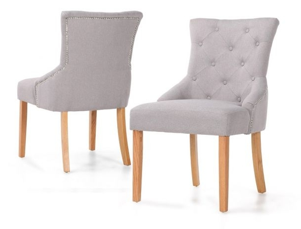 Latest Chester Dining Chairs With Oak Wood Legs With Button Back Dining Chairs (View 12 of 20)