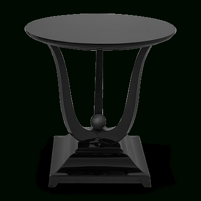 Latest Christopher Guy: Side Tables Pertaining To Caira Black 5 Piece Round Dining Sets With Diamond Back Side Chairs (View 10 of 20)