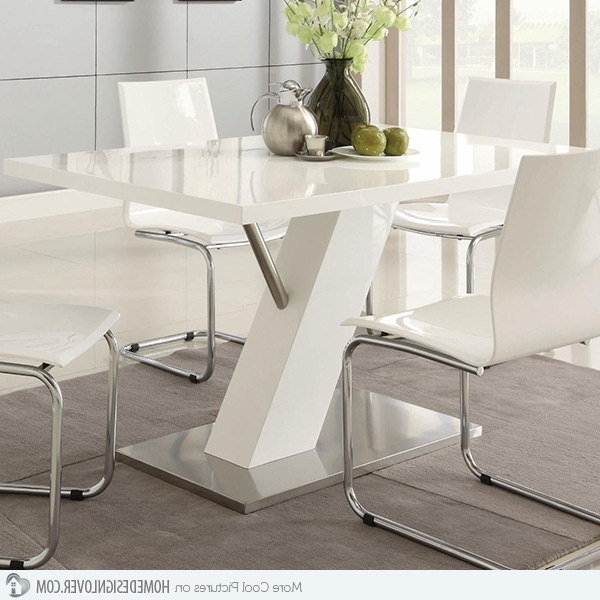 Latest Contemporary Dining Sets In Refreshingly Neat 15 White Dining Sets (View 14 of 20)