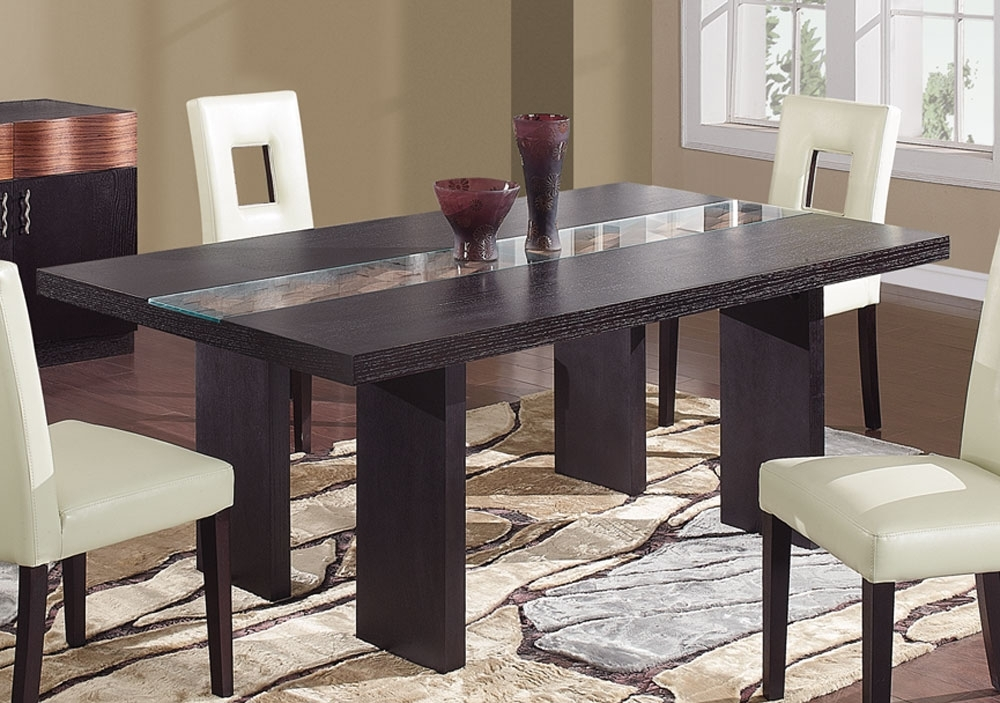 Latest Dark Dining Tables Regarding Global Furniture Usa Amanda Dining Table – Dark Brown Gf Amanda Dt (View 15 of 20)