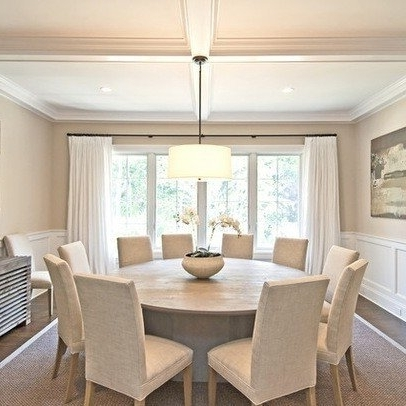 Latest Dining Table And 10 Chairs Throughout Round Dining Table Seats 10 – Foter (View 9 of 20)
