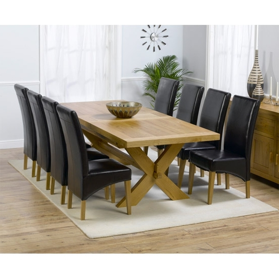 Latest Dining Tables And 8 Chairs Sets Within 9 Piece Rustic 8 Chair Dining Set Design Full Hd Wallpaper Pictures (Gallery 3 of 20)