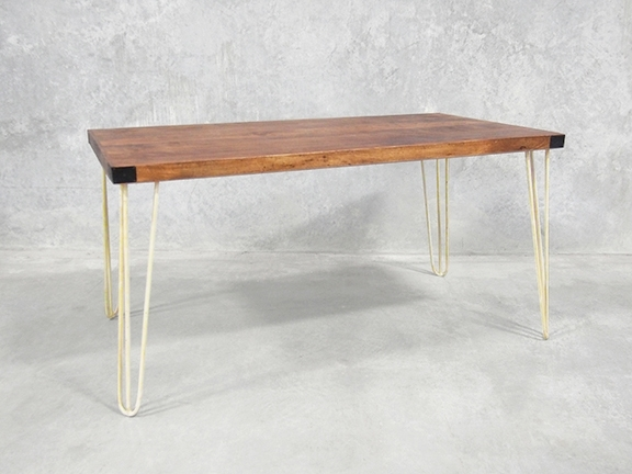 Latest Dining Tables With White Legs Intended For Dining Table With Hairpin Legs (View 8 of 20)
