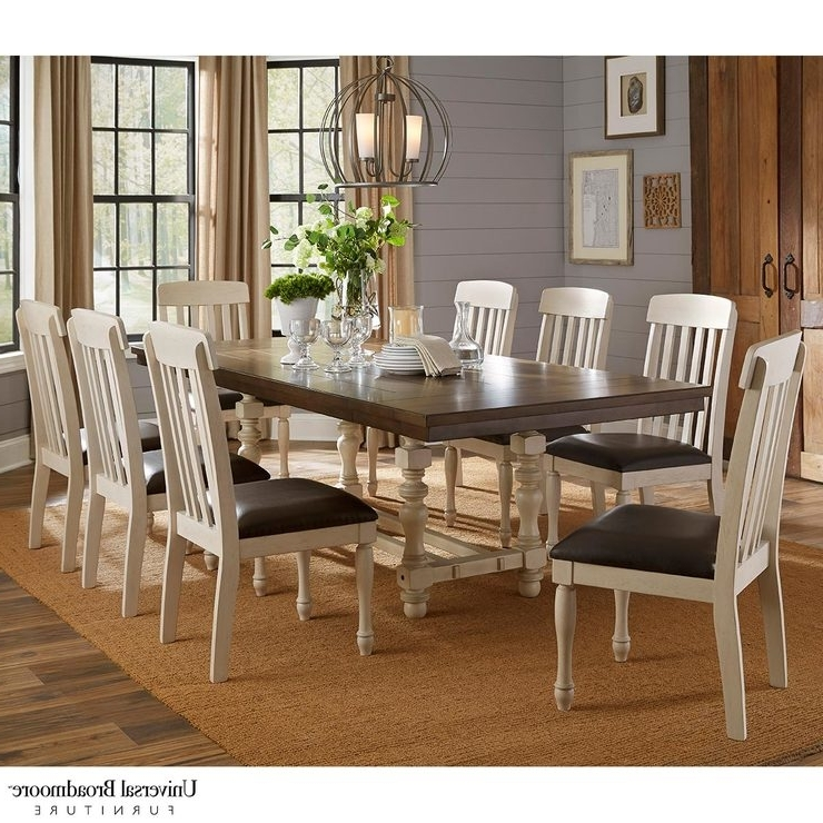 Latest Extending Dining Tables And 8 Chairs For Universal Broadmoore Extending Dining Room Table + 8 Chairs (View 11 of 20)