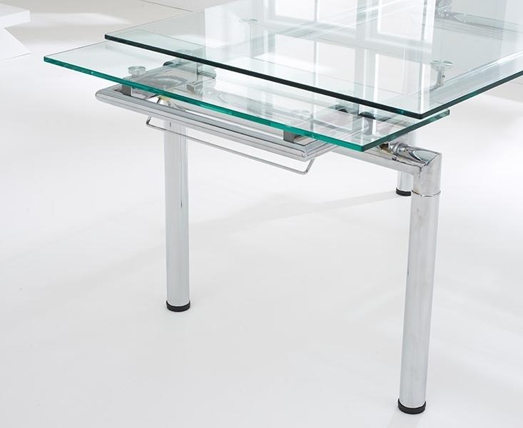 Latest Extending Glass Dining Tables Inside Forli 140Cm 200Cm Glass Extending Dining Table (View 12 of 20)