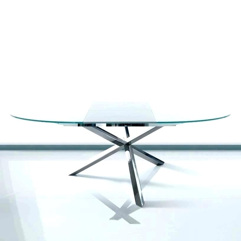 Latest Glass Round Extending Dining Tables Within Modern Round Extendable Dining Table – Latejica (View 13 of 20)