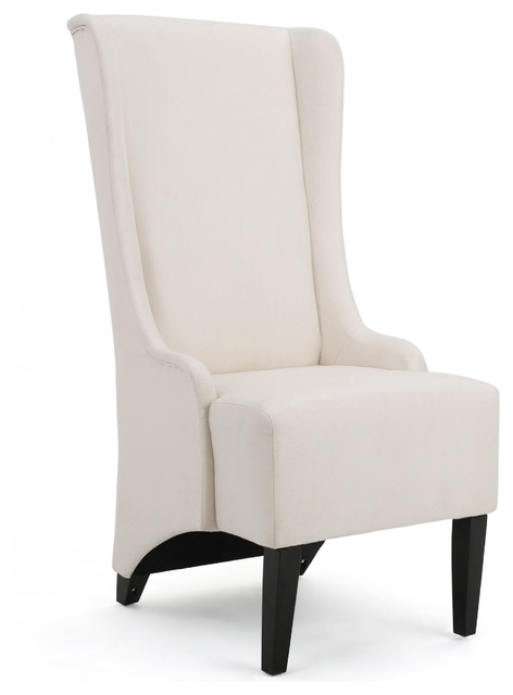 Latest High Back Dining Chairs For Sheldon Traditional Design High Back Fabric Dining Chair (View 12 of 20)