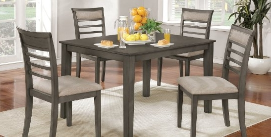 Latest Jameson Grey 5 Piece Counter Sets Inside Buy Kitchen & Dining Room Sets Online At Overstock (View 12 of 20)